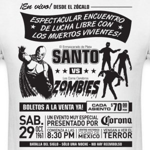Santo vs Zombies T-Shirts - Men's T-Shirt