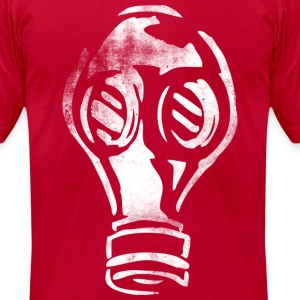 Grunge Gas Mask Graffiti White T-Shirts - Men's T-Shirt by American Apparel