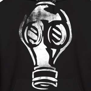 Grunge Gas Mask Graffiti White Hoodies - Men's Hoodie