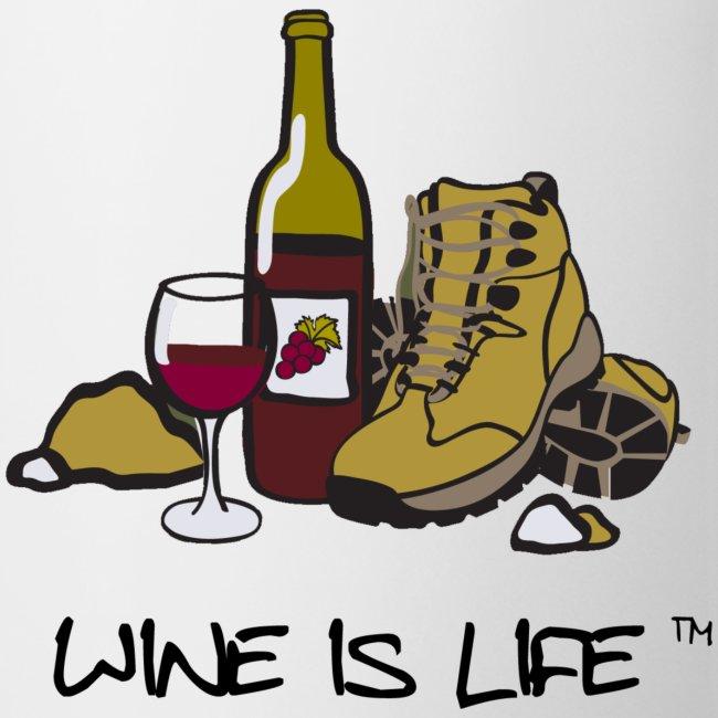 "Wine is Life ""Hiking"" - Coffee Mug"