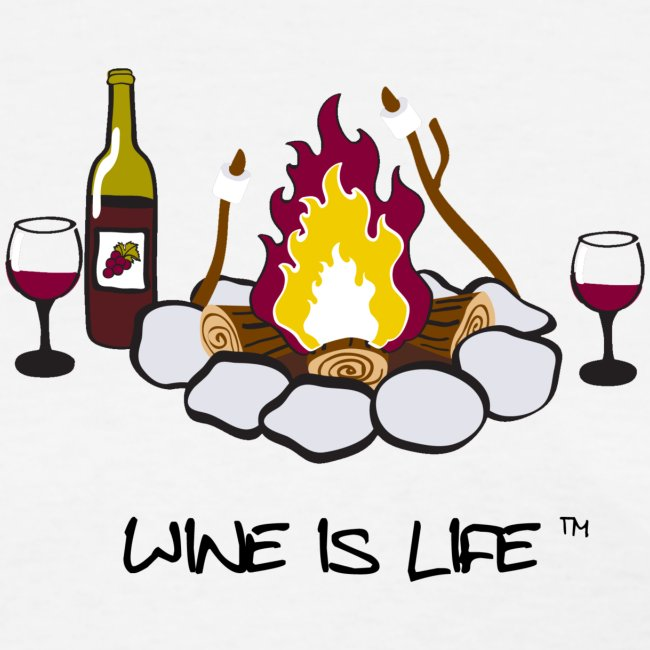 Wine is Life Campfire - Womens Standard Tee