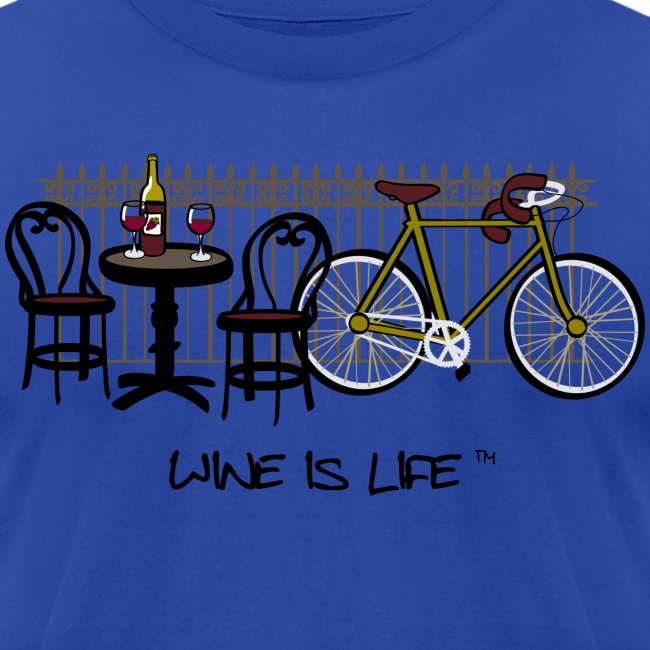 Bicycle Bistro Wine Stop - Mens Tee by American Apparel