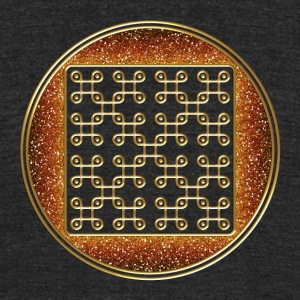 endless knot - crop circle - Cheesefoot head  8/20 T-Shirts - Unisex Tri-Blend T-Shirt by American Apparel