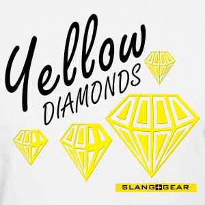 yellow diamonds women's tee (white) - Women's T-Shirt