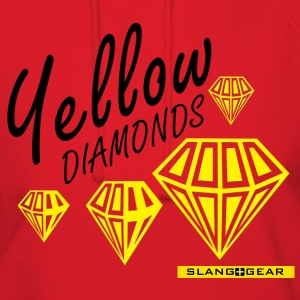 yellow diamonds women's hoodie (red) - Women's Hoodie