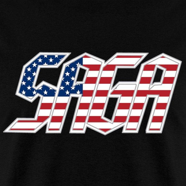 Saga USA Flag LOGO 2017 Tour Shirt