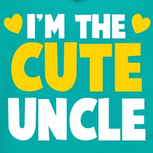 I'm the CUTE UNCLE! Zip Hoodies/Jackets - Unisex Fleece Zip Hoodie by American Apparel