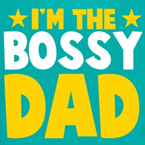 I'm the BOSSY DAD fathers day funny Zip Hoodies/Jackets - Unisex Fleece Zip Hoodie by American Apparel