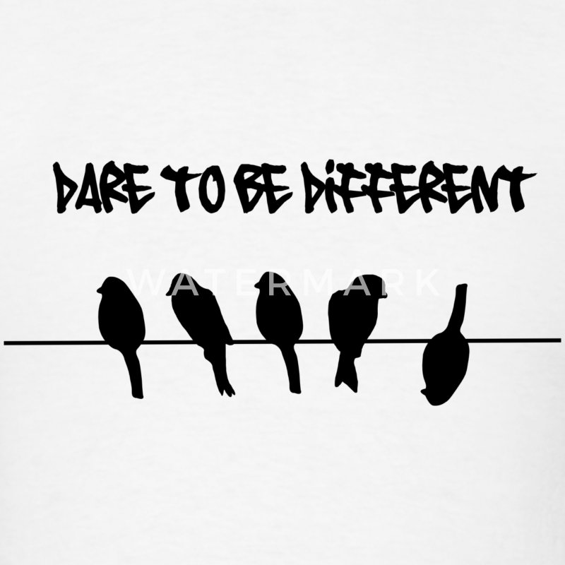 Dare to be Different Birds on a wire T-Shirts - Men's T-Shirt