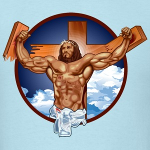 Funny Gym Shirt - Come at me bro jesus T-Shirts - Men's T-Shirt