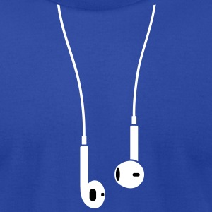 Phone/Pod 5 earphones 2clr T-Shirts - Men's T-Shirt by American Apparel