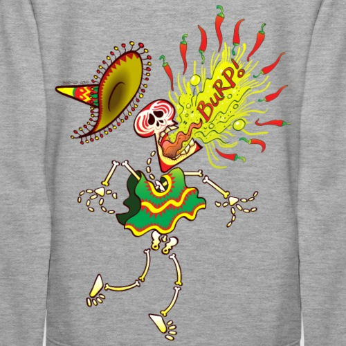 Mexican Skeleton Burping Hot Chili Peppers