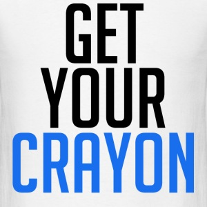 Get Your Crayon Blue (Black) T-Shirts - Men's T-Shirt