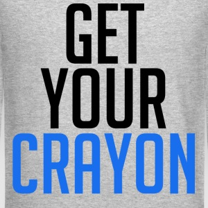 Get Your Crayon Blue (Black) Long Sleeve Shirts - Crewneck Sweatshirt