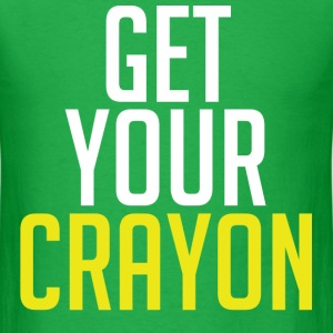 Get Your Crayon Yellow (White) T-Shirts - Men's T-Shirt