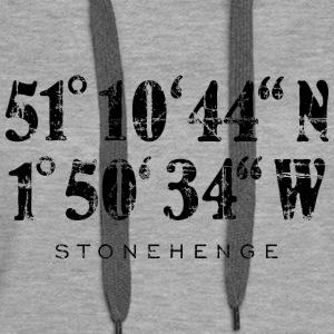 Stonehenge Coordinates Vintage Black