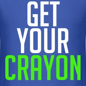 Get Your Crayon Lime (White) T-Shirts - Men's T-Shirt