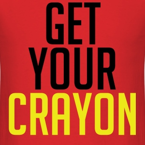 Get Your Crayon Yellow (Black) T-Shirts - Men's T-Shirt