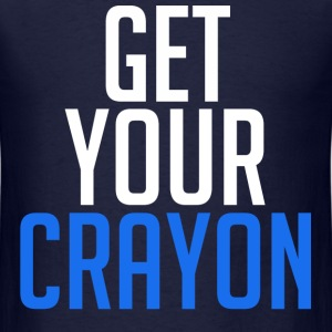 Get Your Crayon Blue (White) T-Shirts - Men's T-Shirt