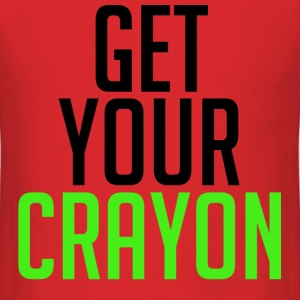 Get Your Crayon Lime (Black) T-Shirts - Men's T-Shirt