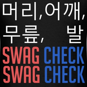 머리, 어깨, 무릎, 발 SWAG CHECK (White) T-Shirts - Men's T-Shirt