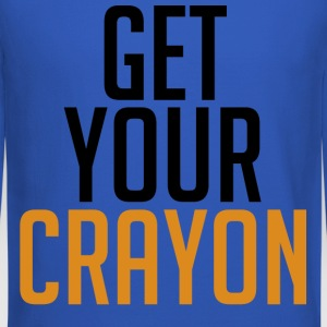 Get Your Crayon Orange (Black) Long Sleeve Shirts - Crewneck Sweatshirt