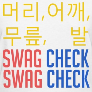 머리, 어깨, 무릎, 발 SWAG CHECK (Yellow) Women's T-Shirts - Women's T-Shirt