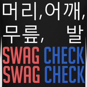 머리, 어깨, 무릎, 발 SWAG CHECK (White) Long Sleeve Shirts - Crewneck Sweatshirt