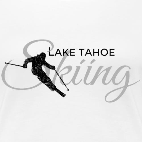 Lake Tahoe Skiing Skier (Black&Gray)