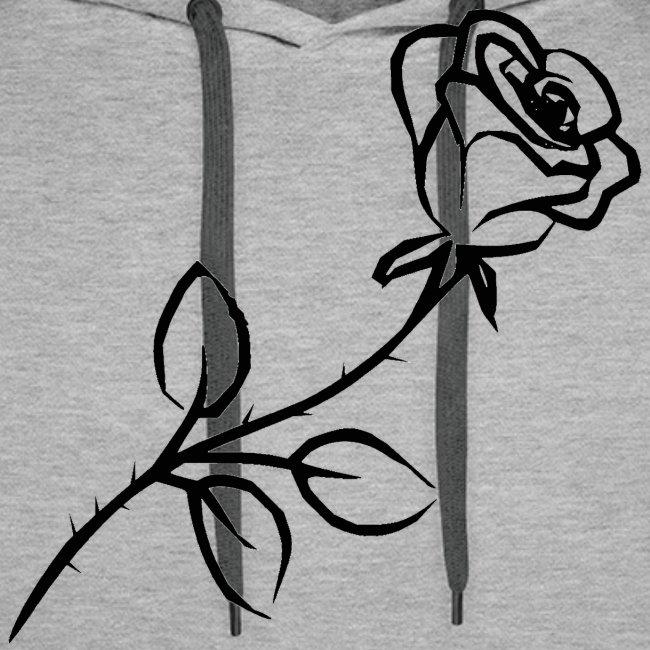 Men's Hoodie - Black Rose | Men's Premium Hoodie