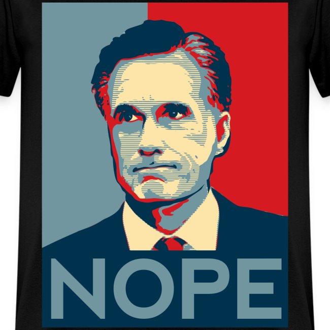 """Nope""  To Romney!"