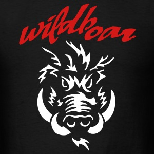 wildboar__face_on_dark T-Shirts - Men's T-Shirt