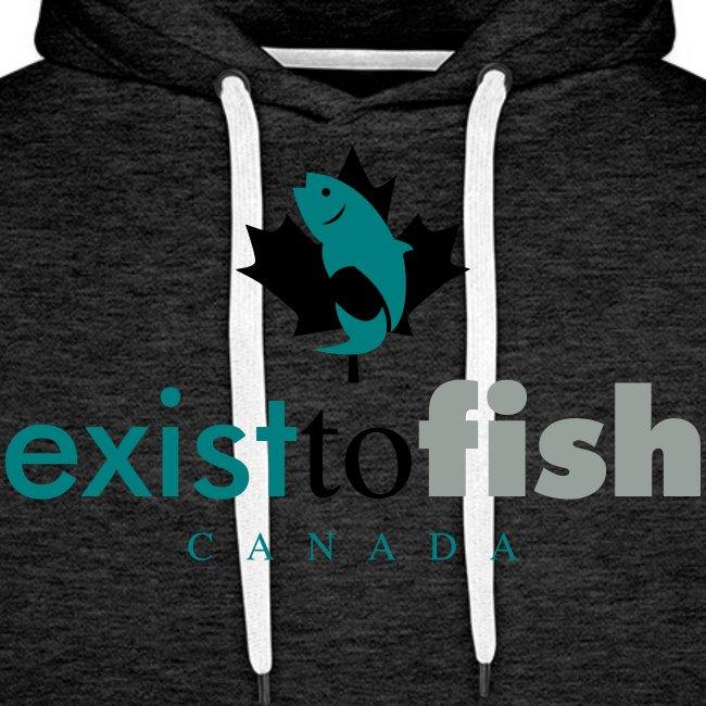 Exist To Fish Premium Men's Hoodie