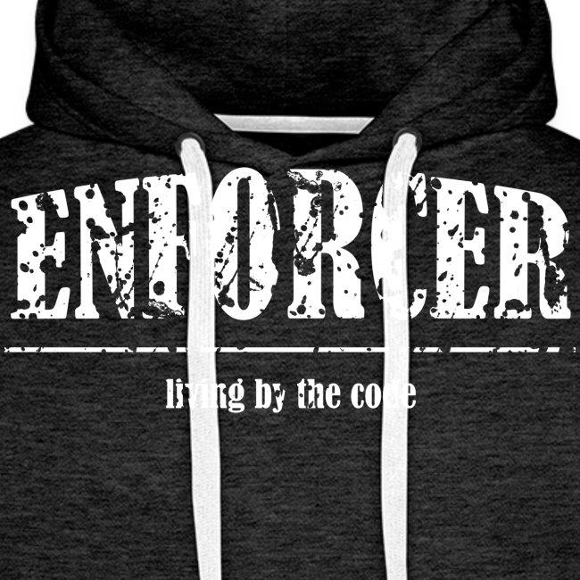 Enforcer: Living by the Code-Men's Hoodie