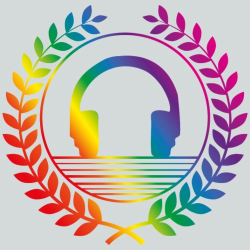 dj headphones rainbow