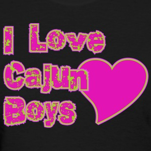 I Love Cajun Boys - Women's T-Shirt