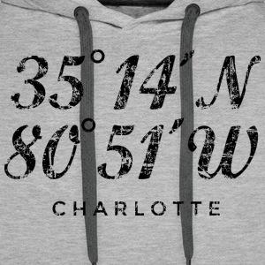Charlotte North Carolina Coordinates Vintage Black
