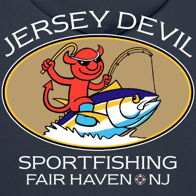 Jersey Devil Men's Premium Hoodie Dark: Tuna