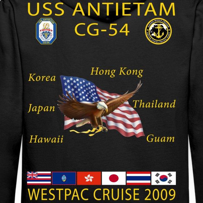 USS ANTIETAM CG-54 2009 CRUISE HOODIE