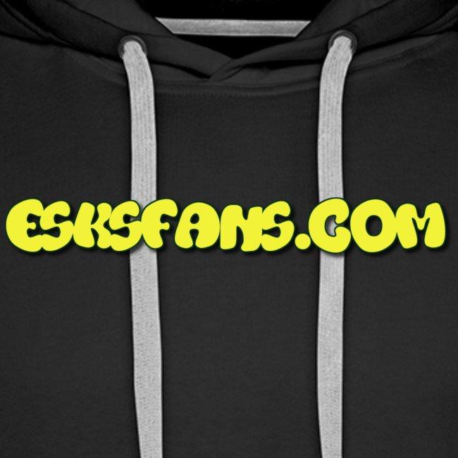 Black esksfans.com hoodie