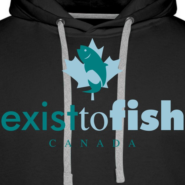 Exist To Fish Premium Men's Hoodie
