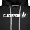 Men's White Culter35 Logo Hoodie - Men's Premium Hoodie