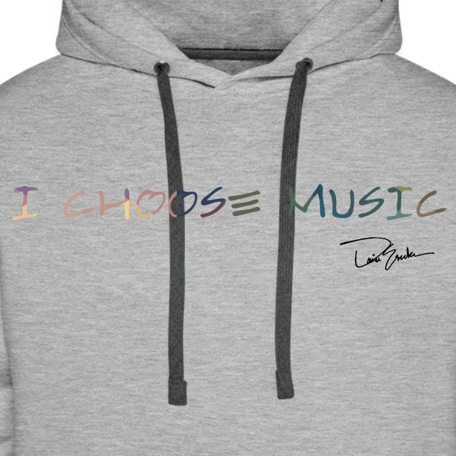 Men's I Choose Music Colorful Hoodie