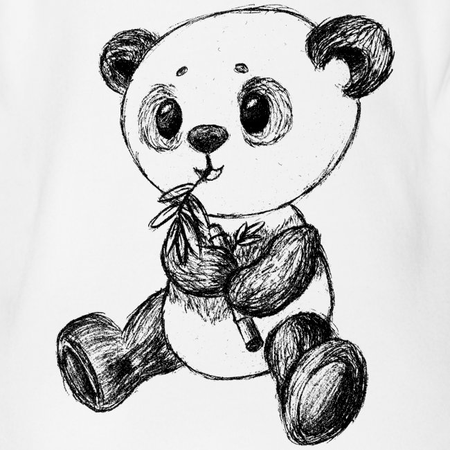 Panda Bear scribblesirii black