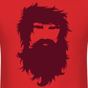 Beard Man Hairy Face Mustache T-Shirts - Men's T-Shirt