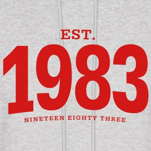 est. 1983 Nineteen Eighty Three - Men's Hoodie