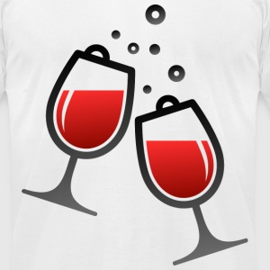 Wine Glasses (dd)++ T-Shirts - Men's T-Shirt by American Apparel