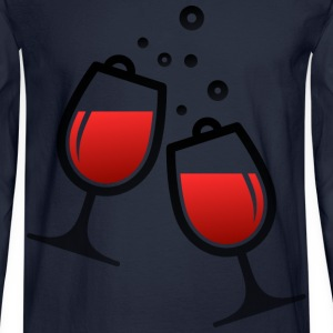Wine Glasses (dd)++ Long Sleeve Shirts - Men's Long Sleeve T-Shirt