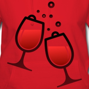 Wine Glasses (dd)++ Hoodies - Women's Hoodie