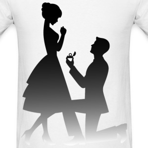 Wedding Proposal (dd)++ T-Shirts - Men's T-Shirt